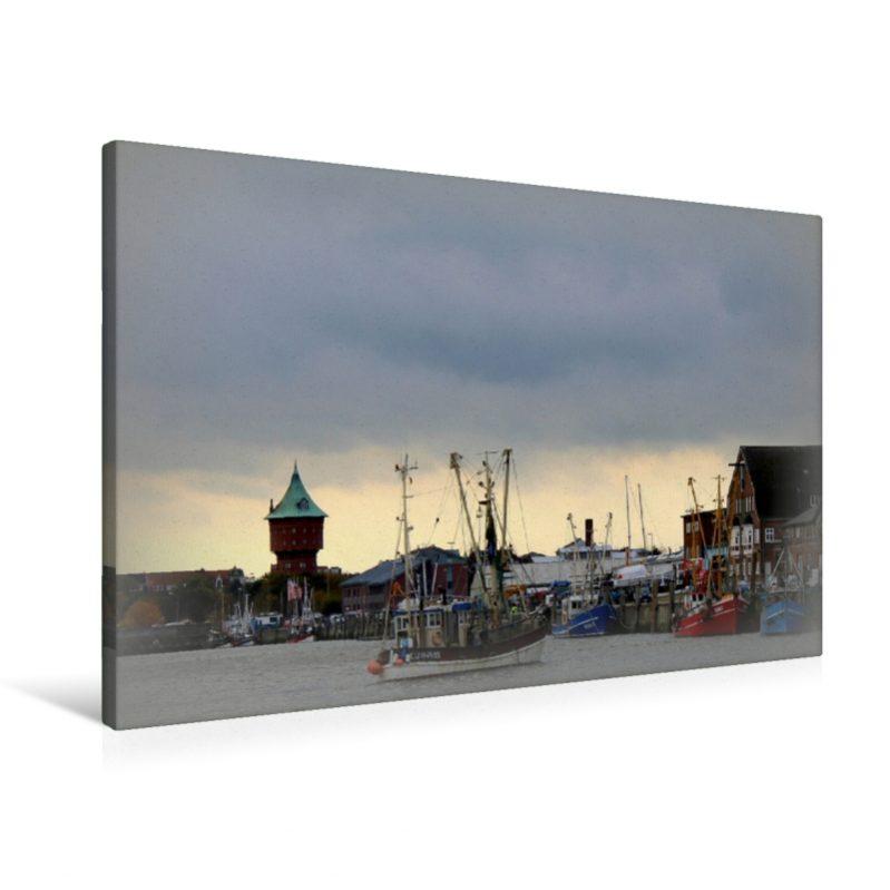 Alter Fischereihafen in Cuxhaven an der Nordsee (Leinwand)