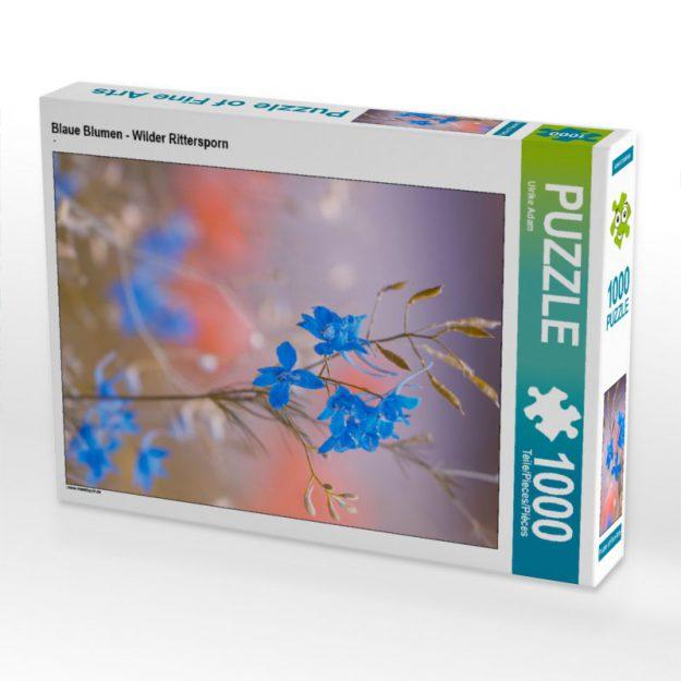 Blaue Blumen - Wilder Rittersporn - Puzzle