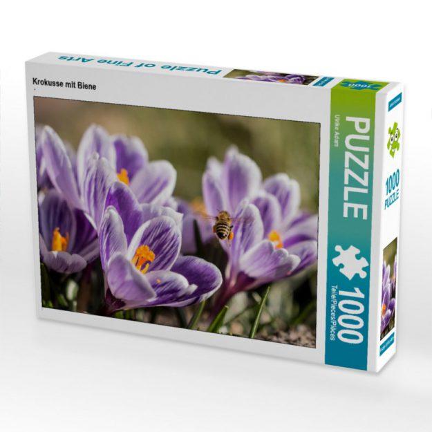 Krokusse mit Biene - Puzzle