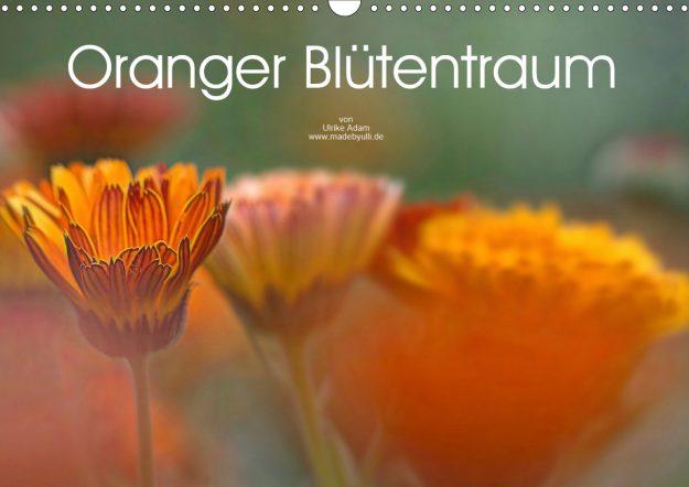 Oranger Blütentraum - Kalender