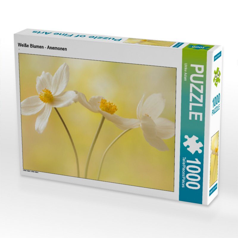 Weiße Blumen - Anemonen - Puzzle