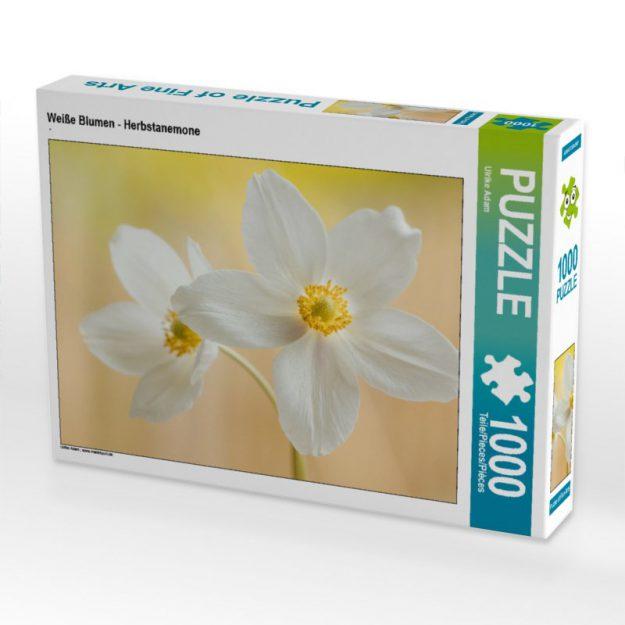 Weiße Blumen - Herbstanemone - Puzzle
